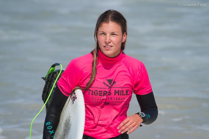 Anoush Zakarian, runner up in the women's surf division.